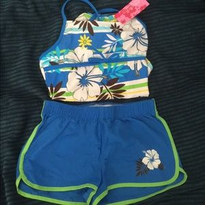Xhilaration Girls Bathing Suit with Shorts